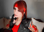 Claire Redfield cosplay RE2 wink