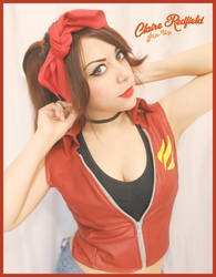 Claire Redfield Pin-Up style by CodeClaire