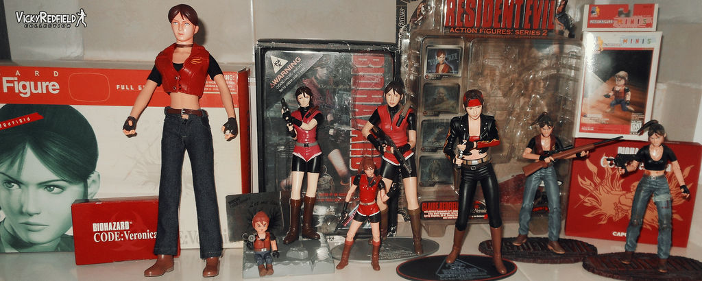 Claire Redfield figure collection