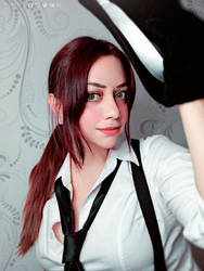 Claire Redfield noir cosplay - RE 2 Remake