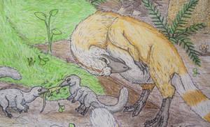 Sinosauropteryx family