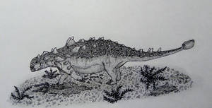 Euoplocephalus makes the bed