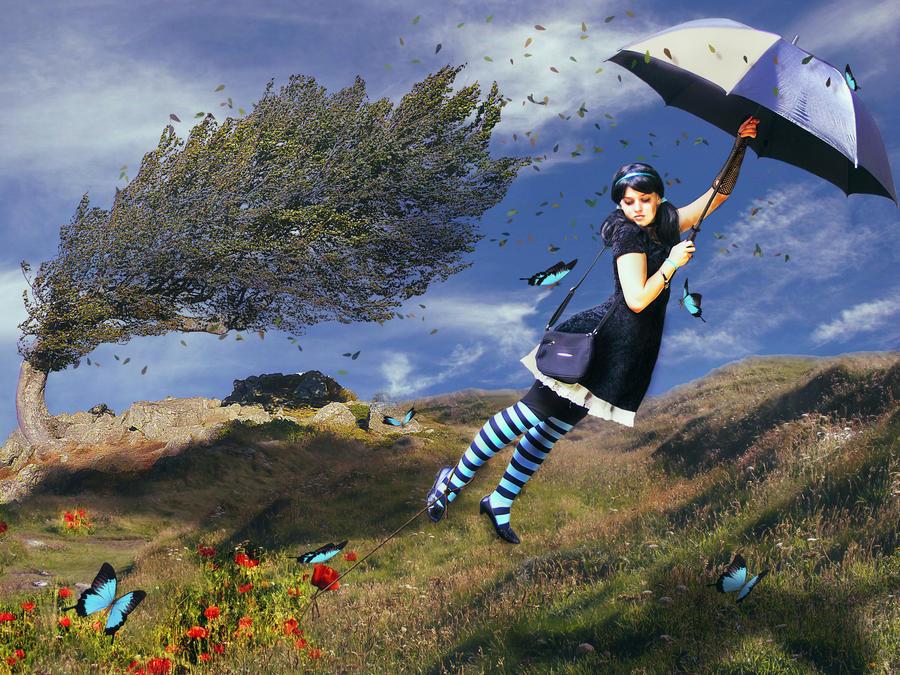 ===Que es para ti volar?...=== - Página 2 The_blu_umbrella_by_pinkmoment-d3a5535