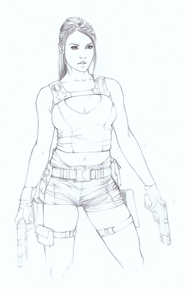 post a picture of lara croft in tomb raider 9 archive wwwtombraiderforumscom - Lara Croft Coloring Pages