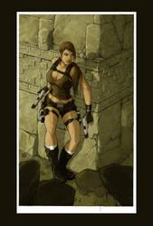 lara croft : colo by illyne