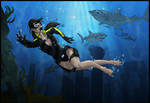 lara croft wetsuit colo