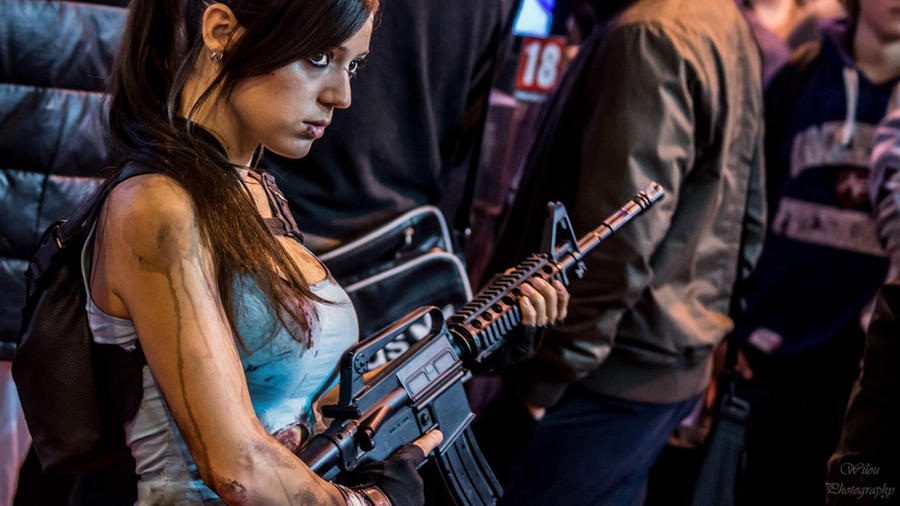 Lara Croft Paris Games Week by illyne