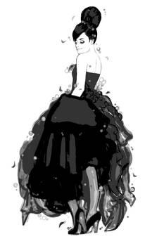 nombre vestido de noche