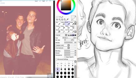 Dylan O'Brien doodle