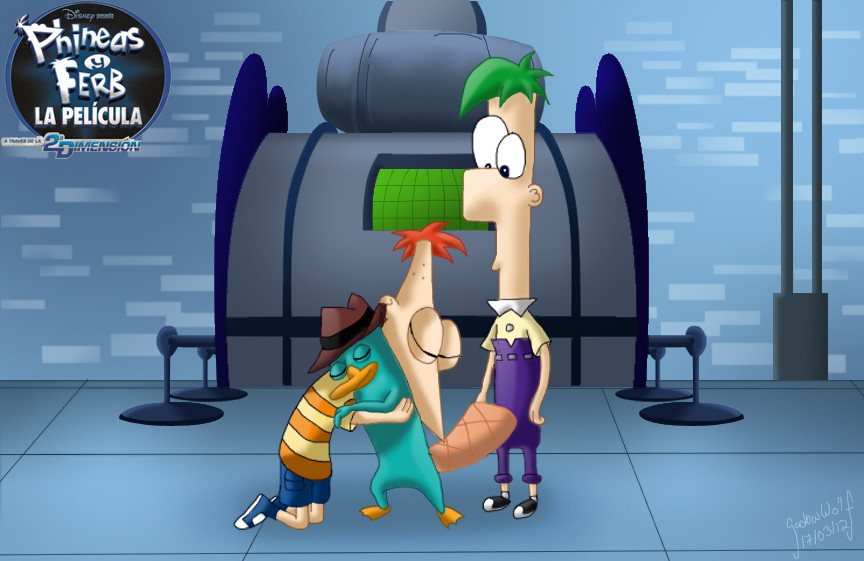 phineas y ferb by SadowWolfKACT