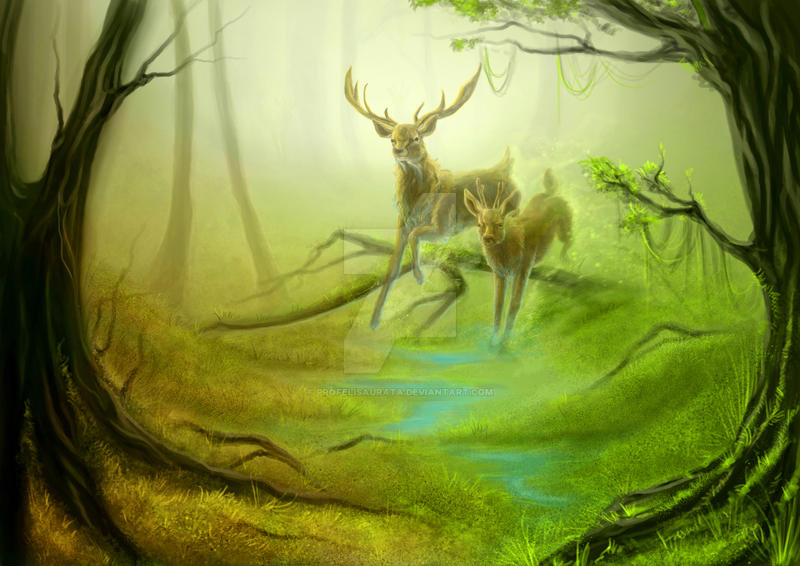Deer by ProfelisAurata