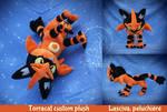 SOLD Torracat custom plush by Peluchiere