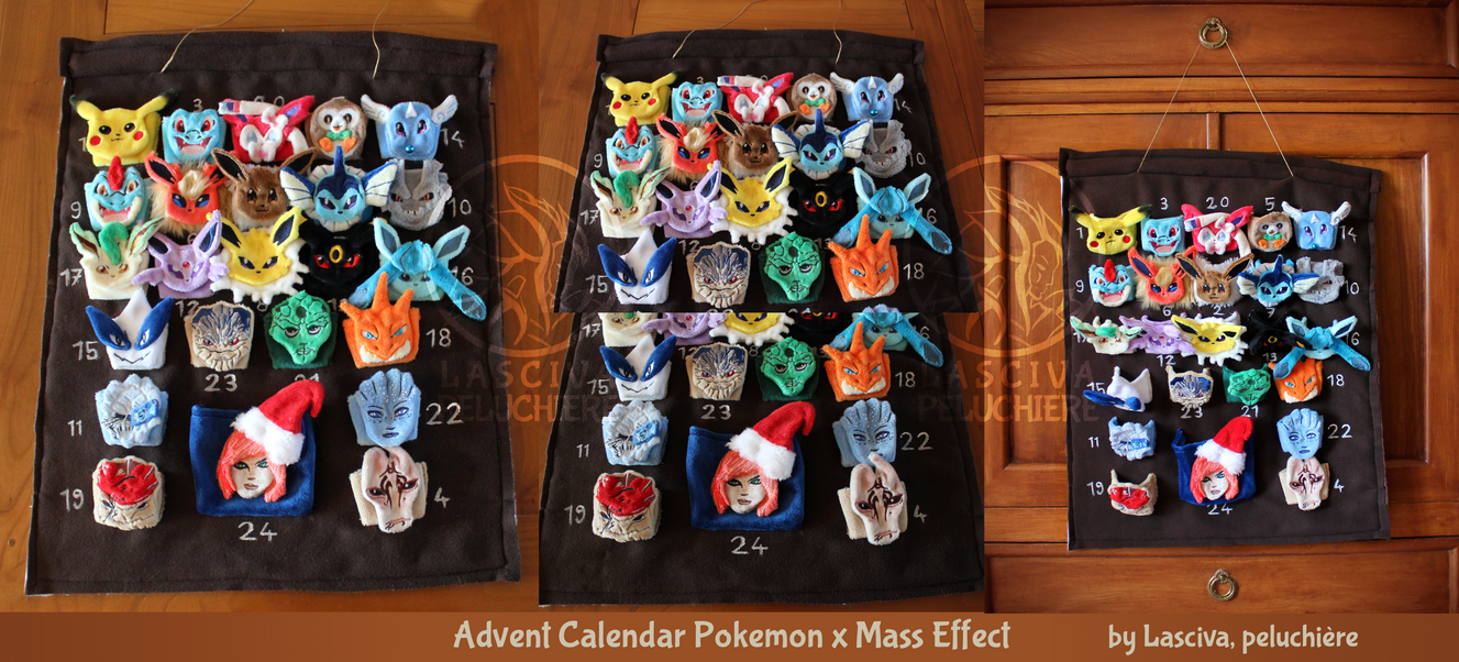 Advent Calendar Pokemon x Mass Effect by Peluchiere