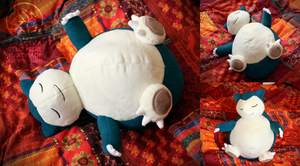 Snorlax custom plush by Peluchiere