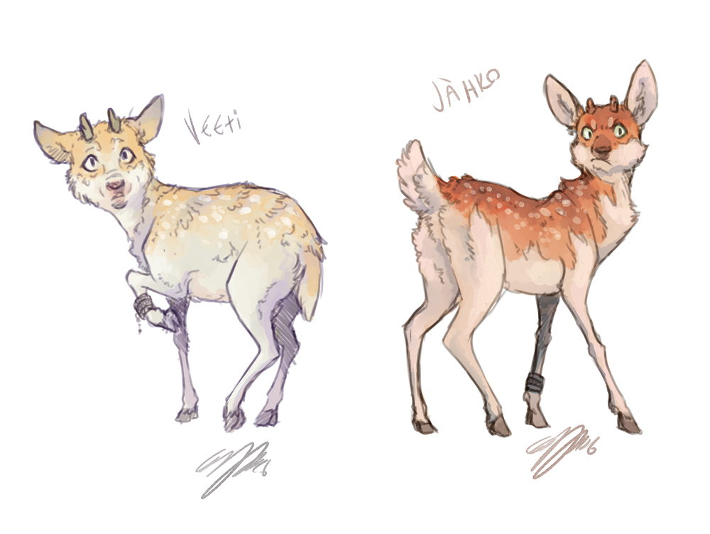 sketch request fawns by ellipuukangas