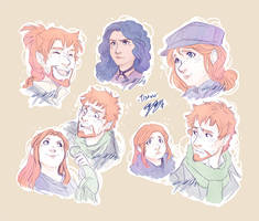 Face sketches by ElliPuukangas