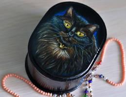 Black cat by yushnikova