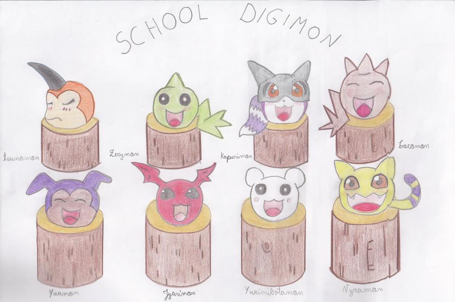 Escuela Digimon by AsuruiHiane