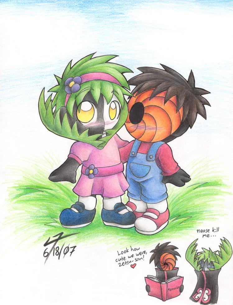 Zetsu and Tobi as Kids by NeroStreet
