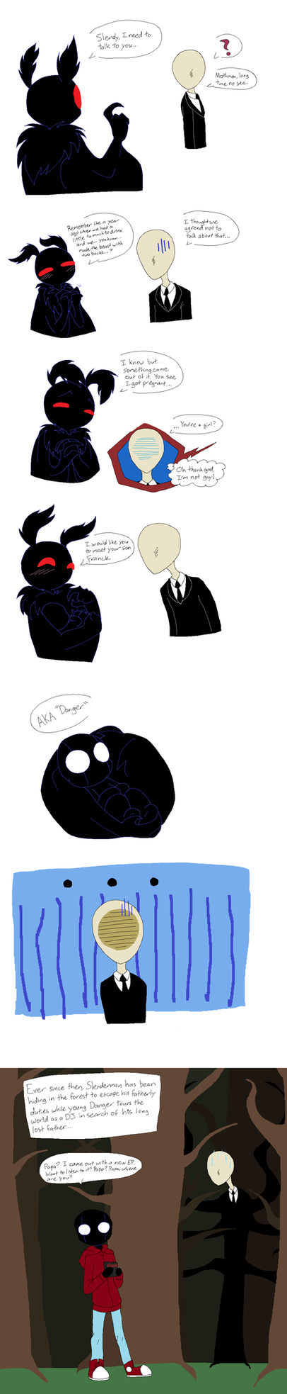Slenderman Plus Mothman Equals by NeroStreet
