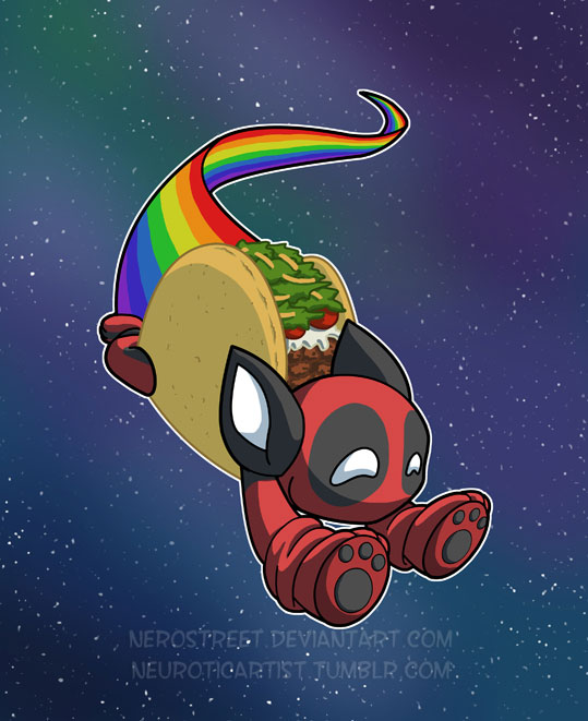 Nyan Deadpool Taco Cat by NeroStreet ...