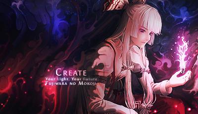 Mokou, 'Create' Smudge Tag (Touhou) by NigglezNGigglez