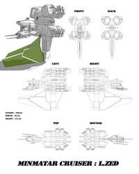 Minmatar cruiser L.ZED 0.1 by lokzed