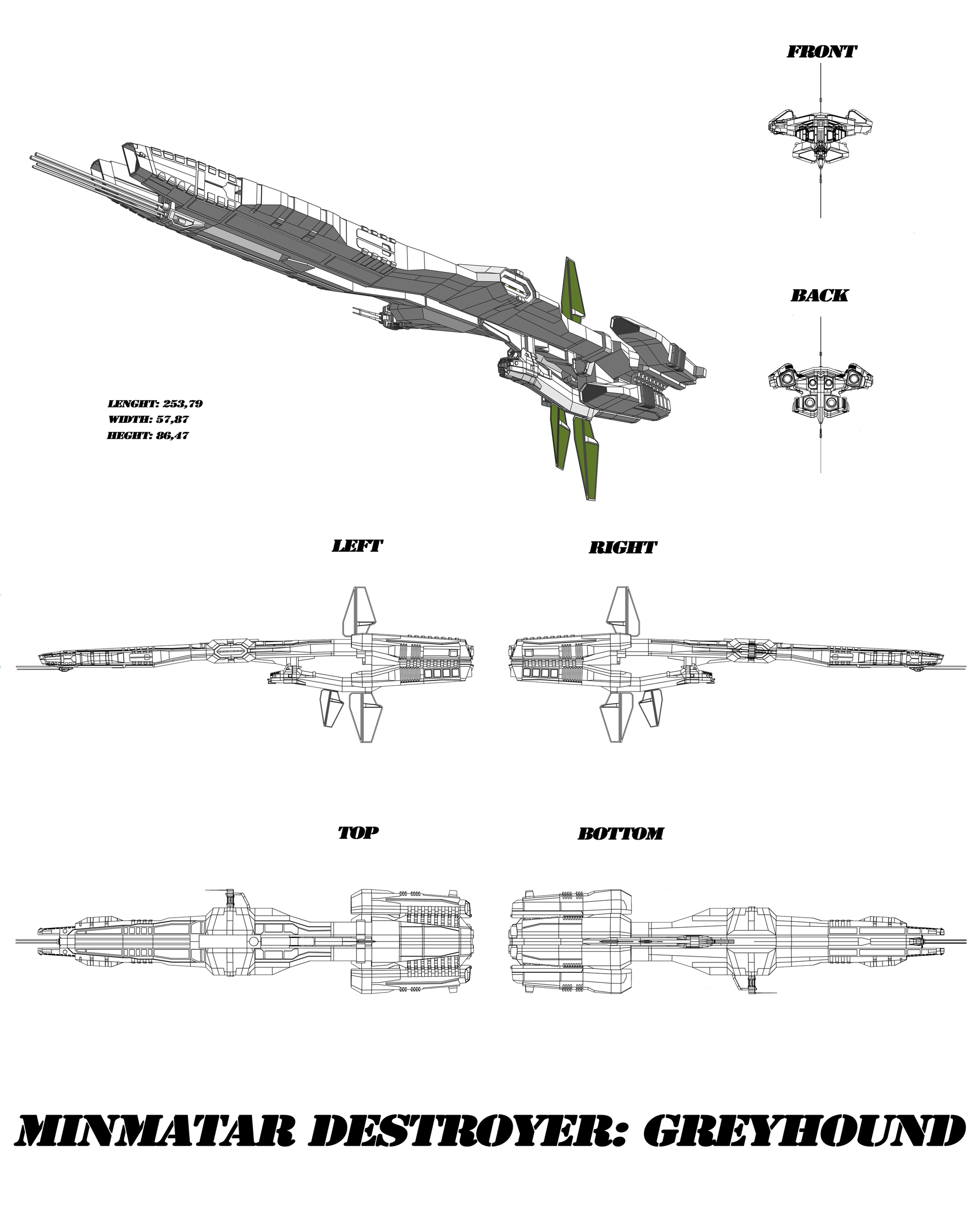 Minmatar destroyer greyhound by lokzed