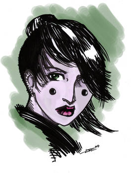 Ink girl color