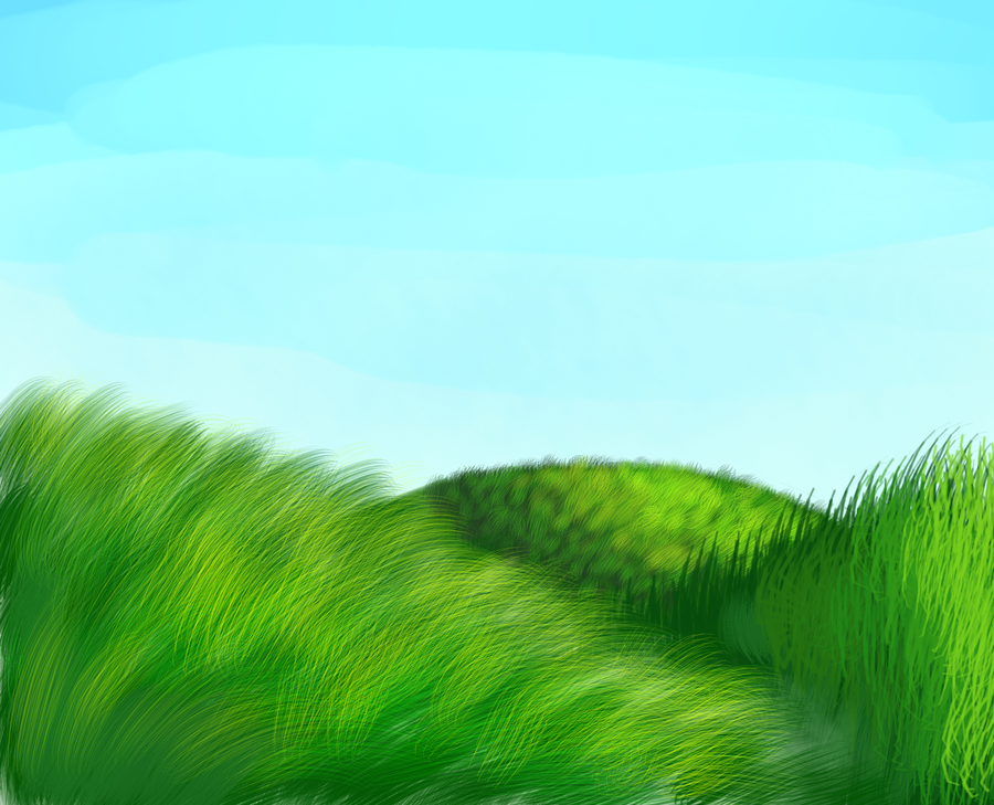 grassy hills by sketchris