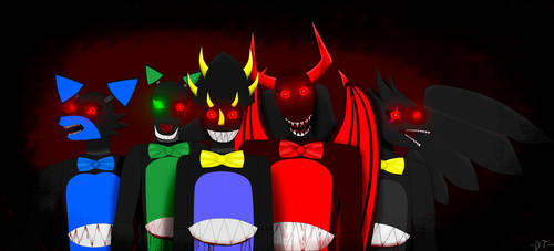 The shadowy Five by anubisH55513