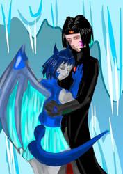 Wayne and his Ice dragon