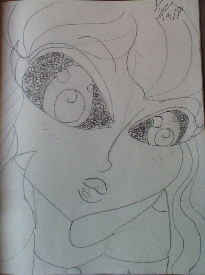 Lacey eyes sketch  by Kaliko08