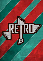 retro lettering by burninlab