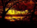 Kalvo Badelaug Sunset by VinZo-Art