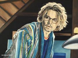 Johnny Depp - Mort Rainey by shaman-art