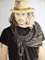 Johnny Depp - Hat And Scarf by shaman-art