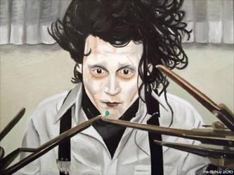 Johnny Depp Edward And The Pea by shaman-art