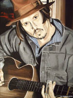Johnny Depp - Guitar Man by shaman-art