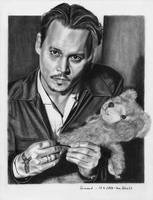 Johnny Depp and a Teddybear by shaman-art