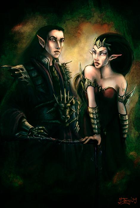 Raelag and Shadya by Astrea75