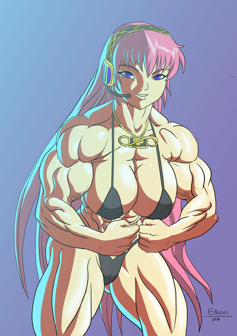 Commission hot chick with muscles by Einom