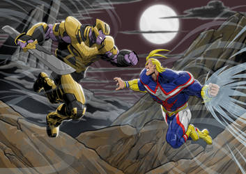 Thanos vs All Might by Einom