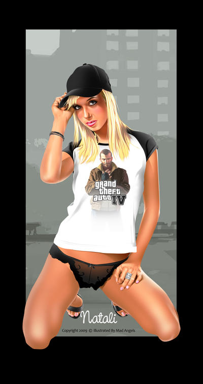 Sexy Blond with GTA IV by dannykojima