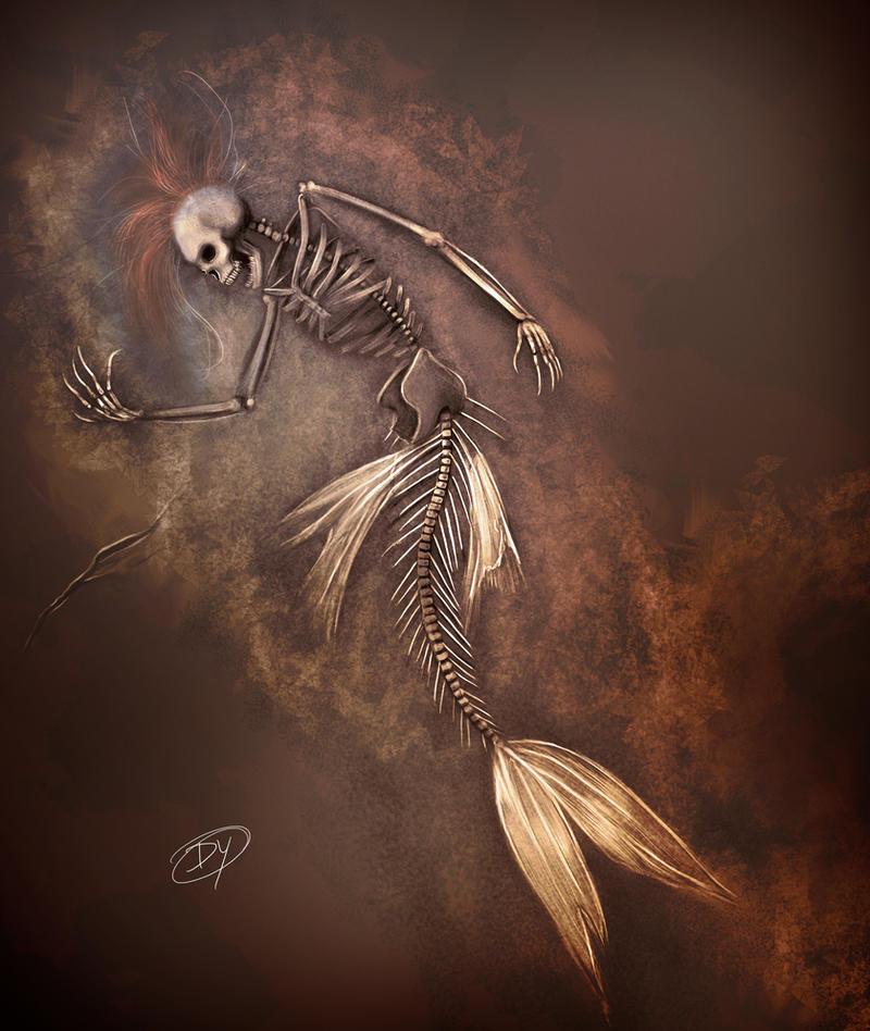 Dead Mermaid Fossil by dannykojima