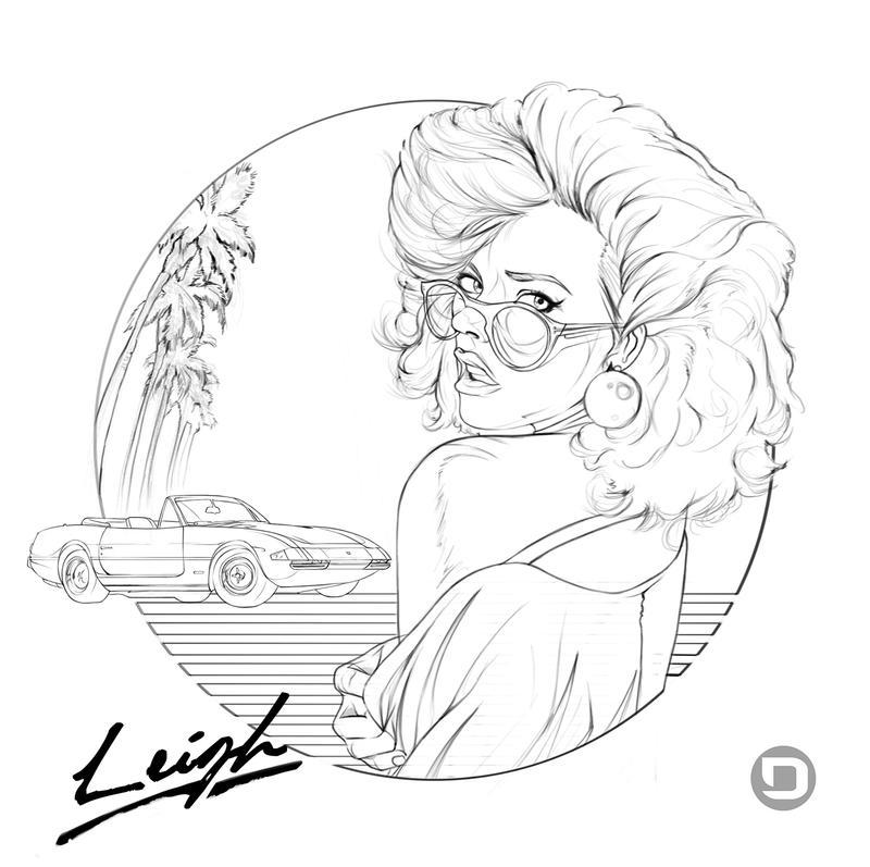 New Retro: Summer of Los Angeles 1984 Illustration by dannykojima
