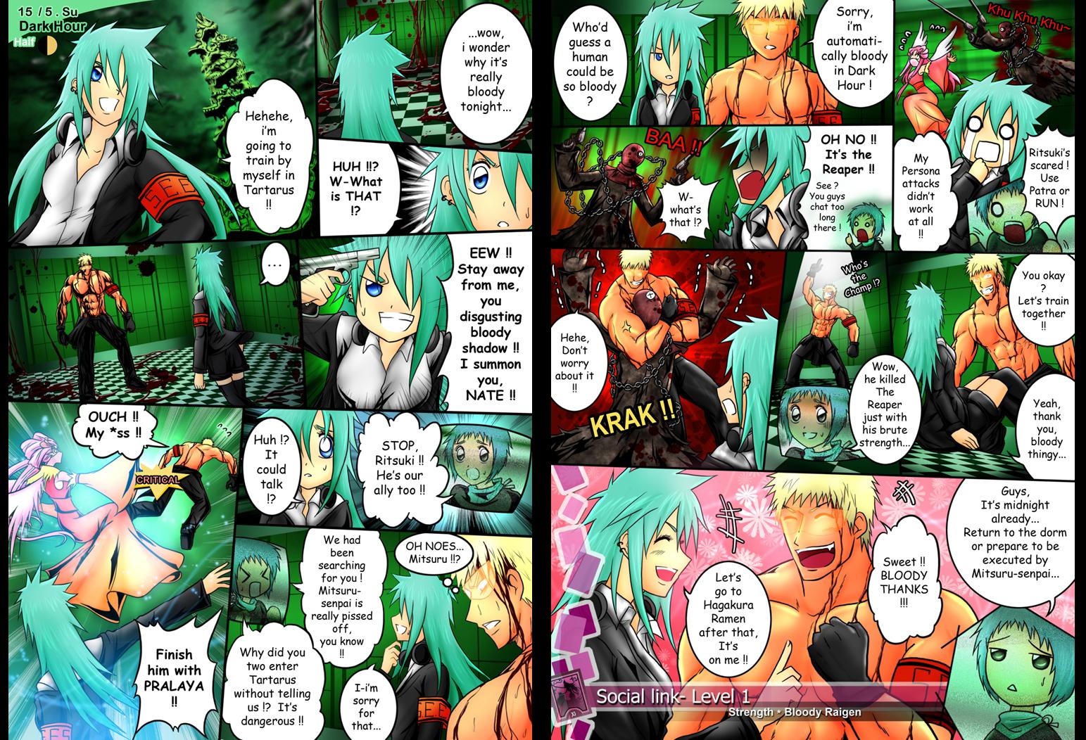 Social Link Lv 1 Ritsuki and Raigen by Bob-Raigen