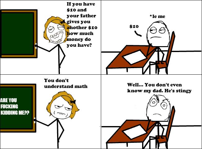 Comic strip involving math