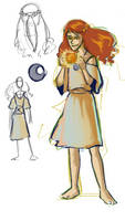 Eilonwy sketches by sparkyrabbit