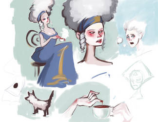 Weird Sketches by sparkyrabbit